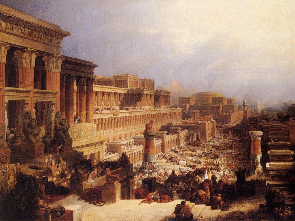 בני ישראל יוצאים ממצרים. ציור מאת דייוויד רוברטס משנת 1828