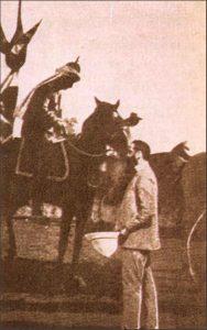 תמונת הפוטומונטז' של פגישת הרצל עם קיסר גרמניה בארץ ישראל