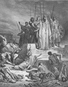 """""""רעב בשומרון"""", ציור בהשראת ספר מלכים ב', פרק ו' מאת גוסטב דורה. ראה אור בשנת 1866 (מקור: ויקיפדיה)"""